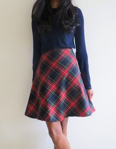 Stuff I've Sewn: Month Six- Tartan Midi Skirt