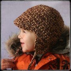 Earflap Hat - Crochet Sizes 1-5