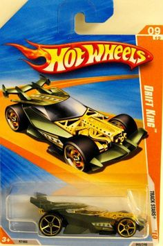 Hot Wheels Cars 2010 - Drift King by Mattel. $5.18. Copyright 2009. R7466. 065 of 240. Born in 2007 designed by Hot Wheels, in El Segundo, CA, USA. With an exposed front engine and a huge rear wing, this 2-seat tuner was made for tire screeching and sideways sliding into victory.
