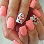 Nail art is one of many ways to boost your style. Try something different for each of your nails will surprise you. You do not have to use acrylic nail designs to have nail art on them. Here are several nail art ideas you need in spring! Spring Nail Art, Nail Designs Spring, Nail Art Designs, Nail Summer, Pedicure Designs, Summer Shellac Nails, Acrylic Spring Nails, Cute Summer Nail Designs, Pedicure Colors