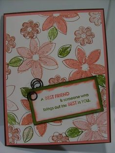 Rosy Friend by designlady - Cards and Paper Crafts at Splitcoaststampers
