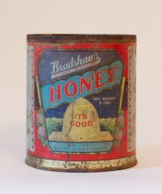 Vintage Honey Can  ~ all kitchens need honey!