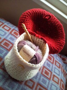 Toadstool / Mushroom Project pouch by Catherine Waterfield