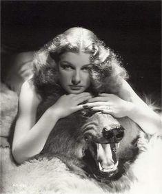 Bare skinned Ann Sheridan on a bear skin rug.....wish that was ME!!!