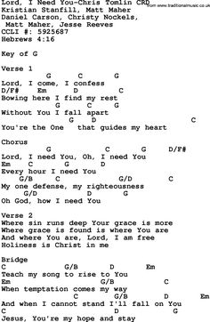I need more of you lyrics and chords