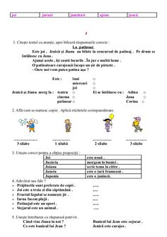 6654510 fise-limba-romana-clasa-i Math For Kids, Activities For Kids, English Lessons For Kids, School Lessons, Kids Education, Preschool, Learning, Literatura, Preschools