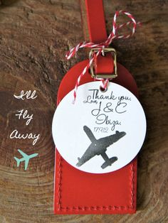 Wedding Favors  I'll Fly Away Luggage Tag by lovetravelsfavors, $5.75