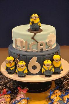 Despicable Me Minion CAKE via Kara's Party Ideas KarasPartyIdeas.com #Minion #PartyIdeas #Supplies