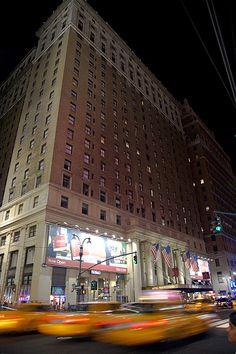 Exterior of Hotel Pennsylvania at night