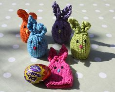Huggie Bunnies - knit with 10 yards or less
