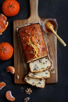 Tangerine Honey Walnut Cake from French Jura - Pardon Your French Tangerine Recipes, Tangerine Bread Recipe, Create A Cake, Cake Photography, Photography Ideas, Walnut Cake, Honey Cake, Honey Recipes, Breakfast Bake