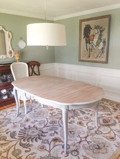 dining room reveal-french provincial dining set makeover | dream
