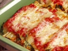 Get this all-star, easy-to-follow Cheesy Manicotti recipe from Paula Deen.