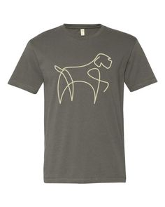 GRIFF LINE TEE neutral great fabric - great design You can buy it and see more options at www.boesarts.com