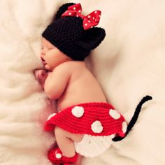 Totally adorable hand-made Minnie Mouse outfit.