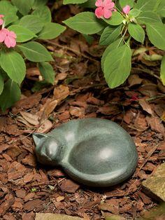 Angel Cat Statue Cat Memorial Garden Sculpture in Concrete