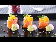 Receta salmón marinado a la lima con perlas de alioli y cremoso de aguacate