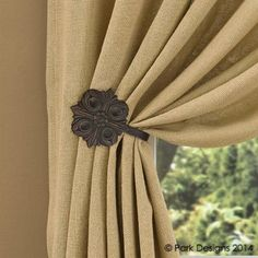 Clifton Collection Window Curtain Tie Back Holder Burnished Copper Finish Cast Aluminum Medallion Country Primitive Wall Decor BCD http://www.amazon.com/dp/B00K1QC4TI/ref=cm_sw_r_pi_dp_RU9Eub1MRHTMN