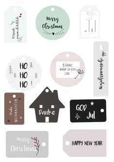 DIY kreativ Geschenke verpacken - Freebies schöne Anhänger für Geschenke herunterladen - Free Printable - Weihnachtsgeschenke kreativ verpacken - Geschenkanhänger selber machen.