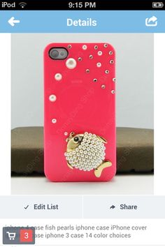 Pink fish iPhone case.