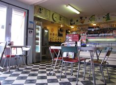 Broken Hill Milk Bar, unchanged since the Bells Milk Bar Musuem Australia Country, Cubby Houses, Soda Fountain, Sweet Memories, Folding Chair, Places To Eat, Bar, The Originals, History