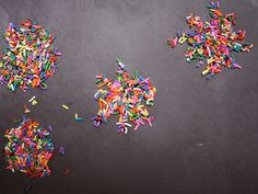 Sprinkle Fireworks - what if we used edible paper and hundreds and thousands??