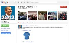 US president Barack Obama on Google+