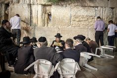 This link will take you to gorgeous photos of Jews praying at the Kotel kabbalahbyheart.com/home Orthdox Jews men pray as they gather for the ritual of Tisha B'Av at the Wall Western in the Old City of Jerusalem, July28, 2012. The Tisha B'Av ceremony, literally the ninth day of the month of Av in the Hebraic calendar, is the darkest day in the Jewish calendar, marking the destruction of the two temples, first by the Babylonians in 587 BC and later by the Romans in 70 AD. (Credit: FLASH90 Tisha B'av, Jewish Quotes, Temple In Jerusalem, Jewish Calendar, Beav, Destruction, Romans, Temples, The Darkest