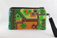 Legend of Zelda Map Wristlet Wallet Bag by RedShirtCreations, $14.95 #zelda #link #gamer