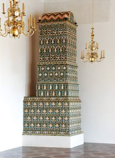 "A reconstructed mid-16th century Renaissance tile stove in a restored Renaissance audience chamber devised by Gintautas Rackevičius of the Castle Research Center ""Lietuvos pilys"", and made by the Kaunas Art Faculty of the Vilnius Art Academy under the supervision of Remigijus Sederevičius (National Museum – Palace of the Grand Dukes of Lithuania)"