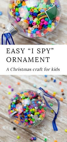 Kids of all ages will enjoy making fun DIY& Spy Christmas Ornaments to gift or keep& holiday season. They are easy, fun, and perfect for home or school. Kids Christmas Ornaments, Christmas Crafts For Kids To Make, Holidays With Kids, Christmas Activities, Diy For Kids, Christmas Fun, Holiday Crafts, Diy Ornaments For Kids, Kids Ornament