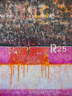 "Abstract-R25 by Anyes Galleani. Mixed media on wood panel, 24x32"", $1400."