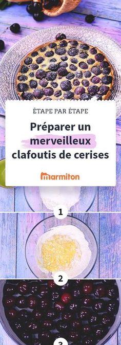 Clafoutis aux cerises, la recette traditionnelle du clafoutis aux cerises #recette #clafoutis #Marmiton #cerise