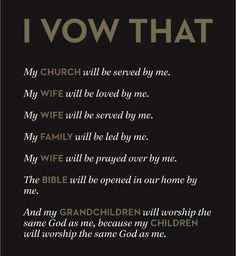 Vow made by men at Mars Hill Church in Seattle.