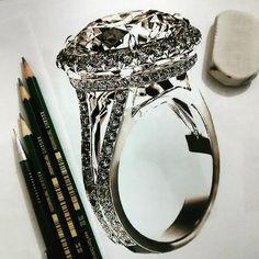 I paint hyperrealistic diamonds - Jewelry sketch - . I paint hyperrealistic diamonds - Jewelry sketch - .
