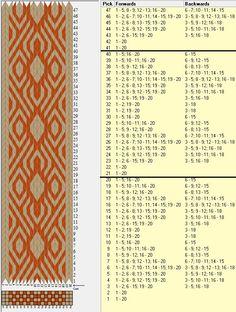 20 tarjetas, 2 colores, repite cada 20 movimientos // sed_467 diseñado en GTT༺❁