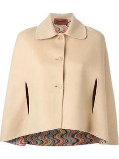 classic buttoned cape