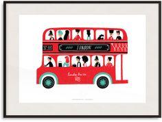 Bus Ilustration Print