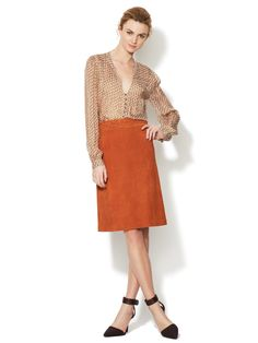 A-Line Suede Skirt by LAgence at Gilt