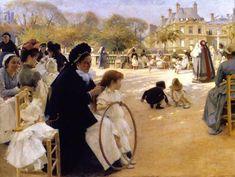 알베르 에델펠트(핀란드), 파리의 뤽상부르 정원 Albert Edelfelt – 1887, The Luxembourg Gardens, Paris.