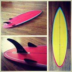 Tyler Warren - colorful bonzer 3 with canard fins
