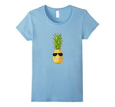 Premium Hawaiian Pineapple Graphic Shirt with Sunglasses Moon Silhouette, Cycling T Shirts, Graphic Shirts, Novelty Gifts, Branded T Shirts, Funny Tshirts, Fashion Brands, T Shirts For Women, Tees
