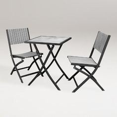 One of my favorite discoveries at WorldMarket.com: Borshi Aluminum Bistro Set