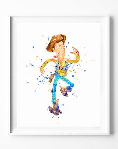 Disney Toy Story Poster Woody Art Print Watercolor Painting Wall Art Home Decor Nursery Kids Wedding Gifts [65]#disney #toystory #woody #cowboy #watercolor #print #poster #homedecor #wallart #gifts #nuresey #kids #subcow