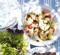 Roasted fennel with tomatoes, olives & potatoes