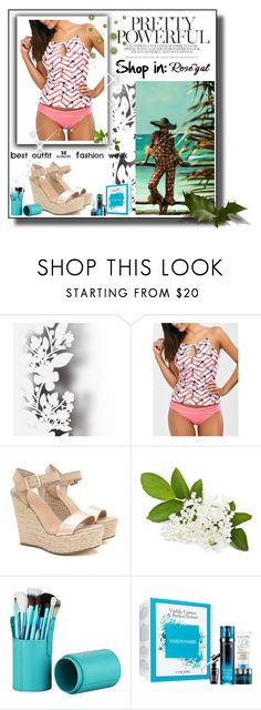 """""""Anchor Print Keyhole Backless Tankini Swimsuits"""" by pantarei85 ❤ liked on Polyvore featuring Élitis"""