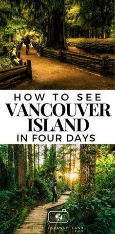 See the best of Vancouver Island in Canada in just 4 days. This short road trip guide will take you around some of the best points of interest on the Vancouver Island: the rainforests, the rugged mountains in the middle and the west coast beaches with the