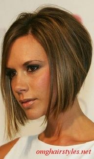 stacked angled bob - Google Search