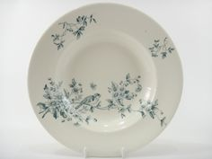 鳥のアンティークスープ皿 MIGNON LONGWY製