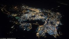 An aerial view of the Kingdom of Bahrain. The British airline pilot has travelled the equi...